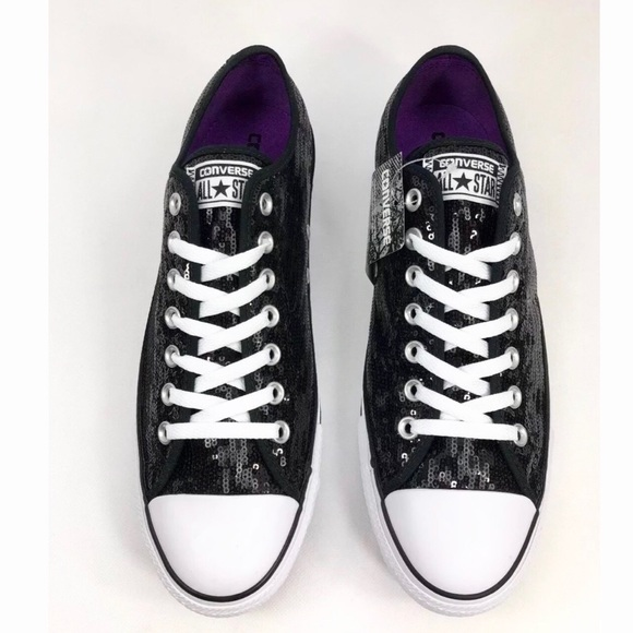 e9cc1dfc78b9 Converse Chuck Taylor Black Sequin Sneakers